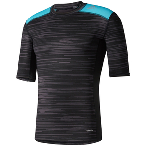 adidas Men's TechFit Base GFX Compression T-Shirt - Black