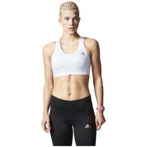 adidas Women's TechFit Medium Support Sports Bra - White