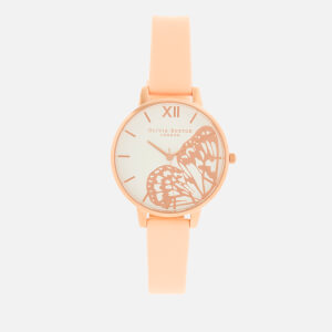 Olivia Burton Women's Butterfly Big Dial Watch - Nude Peach/Rose Gold