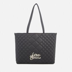 Love Moschino Women's Matt Quilted Shopper Tote Bag - Black