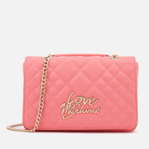 Love Moschino Women's Matt Quilted Flap Shoulder Bag - Pink