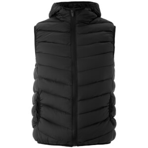 Brave Soul Men's Blackburn Padded Hooded Gilet - Black