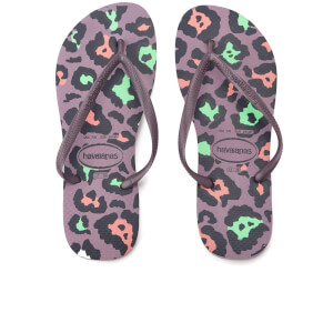 Havaianas Women's Animal Print Slim Flip Flops - Petunia