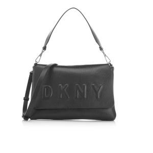DKNY Women's Flap Shoulder Bag - Black