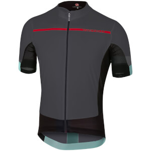 Castelli Forza Pro Jersey - Anthracite/Red