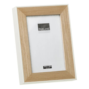 Parlane Oundle Wooden Frame - Natural/White (19.5 x 14.5cm)