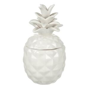 Boîte en Céramique Ananas Parlane - Blanc (16 x 8.5cm)