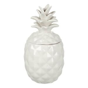 Boîte en Céramique Ananas Parlane - Blanc (20 x 10cm)