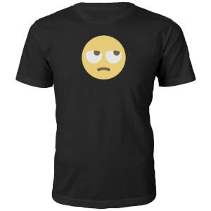 T-Shirt Unisexe Emoji Yeux au Ciel -Noir