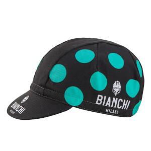 Bianchi Neon Cap - Black/Green Polka