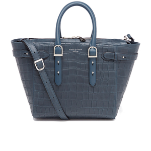 Aspinal of London Women's Marylebone Medium Tote Bag - Teal Croc