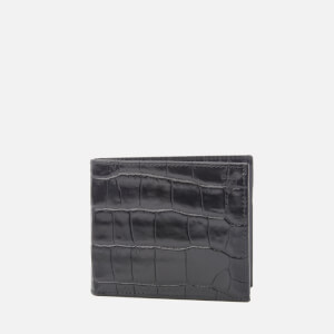 Aspinal of London Men's Billfold Coin Wallet - Black