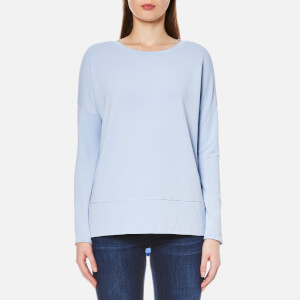 BOSS Orange Women's Tersweat Top - Open Blue