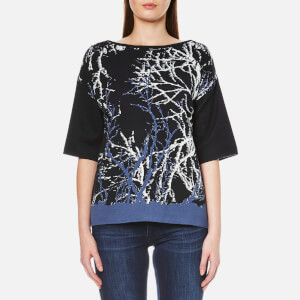 BOSS Orange Women's Izana Top - Dark Blue