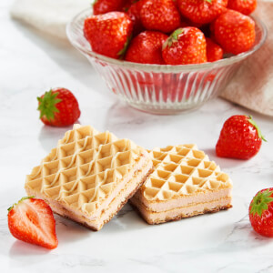 Strawberry Wafer High-Protein Healthy Snack