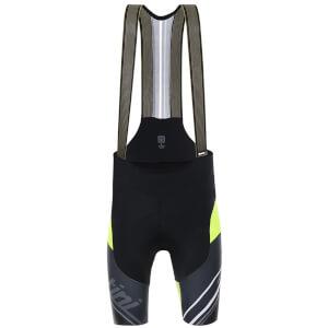 Santini Tono Bib Shorts - Black/Yellow