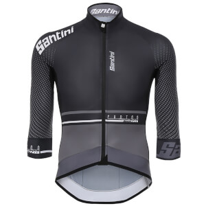 Santini Photon 3.0 3/4 Sleeve Jersey - Black