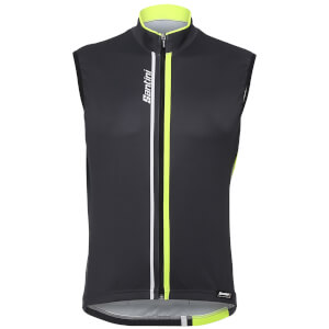 Santini Airform 2.0 Gilet - Black/Yellow