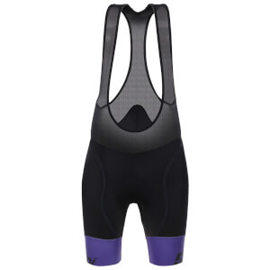 Santini Women's Wave Bib Shorts - Black/Purple