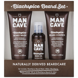 ManCave Blackspice Beard Care - 3 Piece Gift Set