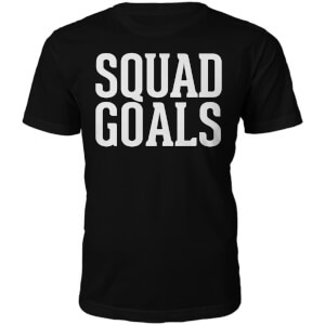 Männer Squad Goals T-Shirt - Schwarz