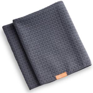 Aquis Waffle Luxe asciugamano per capelli - Moody Gray