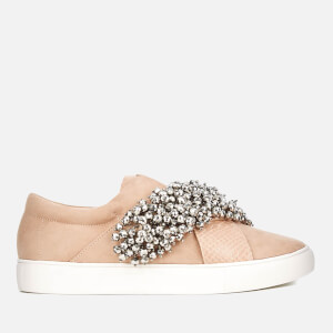 KG Kurt Geiger Women's Ocean Embellished Slip-On Trainers - Nude