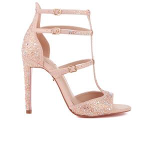 Carvela Women's Gaye Glitter T Bar Heeled Sandals - Pink
