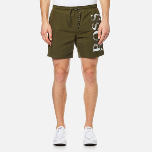 BOSS Hugo Boss Men's Octopus Swimshorts - Dark Green