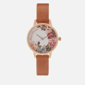 Olivia Burton Women's English Garden Watch - Tan/Rose Gold