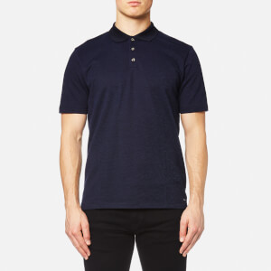 HUGO Men's Dateno Textured Polo Shirt - Navy
