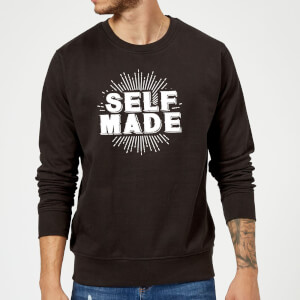 Self Made Slogan Sweatshirt - Black