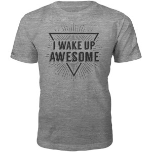 T-Shirt Unisexe I Wake Up Awesome -Gris