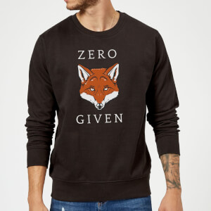 Zero Fox Given Slogan Sweatshirt - Schwarz