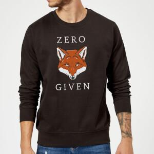 Zero Fox Given Slogan Sweatshirt - Schwarz
