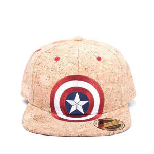 d0a471392b1 Marvel Captain America  Civil War Shield Logo Snapback Cap - Cork