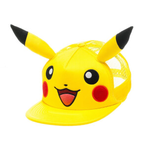 Pokémon Pikachu with Ears Snapback Cap - Yellow