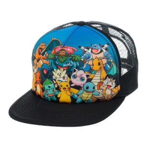 Pokémon Pikachu and Friends Snapback Cap - Multi