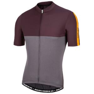 Nalini Mantova Short Sleeve Jersey - Grey/Orange