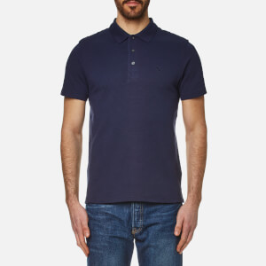 Lyle & Scott Men's Ottoman Stitch Polo Shirt - Navy