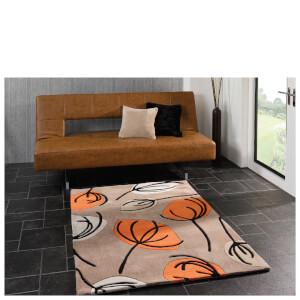 Flair Infinite Inspire Rug - Fifties Floral Orange