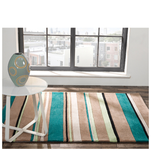 Flair Infinite Inspire Rug - Broad Stripe Teal
