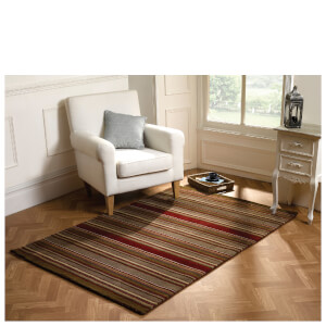 Flair Woodland Corn Rug - Brown/Red