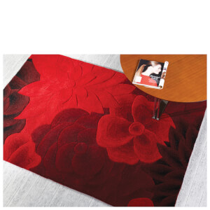 Flair Textures Eden Rug - Red