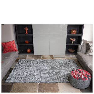 Flair Textures Mendhi Rug - Grey