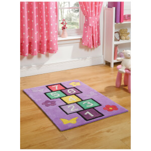 Flair Kiddy Play Rug - Hopscotch Multi (70X100)