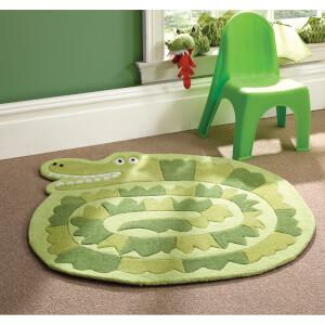 Tapis Flair Kiddy Play Rugs - Crocodile Vert (90X90)