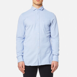 BOSS Orange Men's Cattitude Long Sleeve Shirt - Blue
