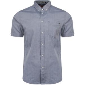 Tokyo Laundry Men's Woodbury Short Sleeve Oxford Shirt - Midnight Blue