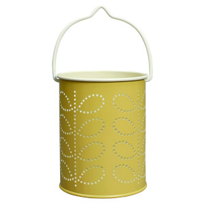 Orla Kiely Tealight Lantern - Linear Stem Yellow
